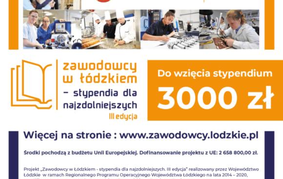 Zawodowcy w Łódzkiem – stypendia dla najzdolniejszych